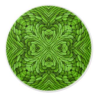 行く緑のカラフルな陶磁器のノブ セラミックノブ