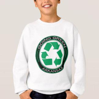 行く緑のリサイクルアーカンソー スウェットシャツ