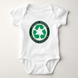 行く緑のリサイクルノースダコタ ベビーボディスーツ