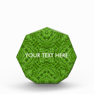 行く緑の万華鏡のように千変万化するパターンのアクリル賞。 2つの形 表彰盾
