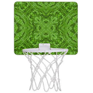行く緑の小型バスケットボールバスケ ミニバスケットボールゴール