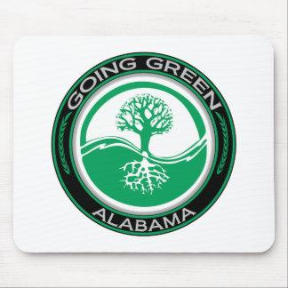 行く緑の木アラバマ マウスパッド