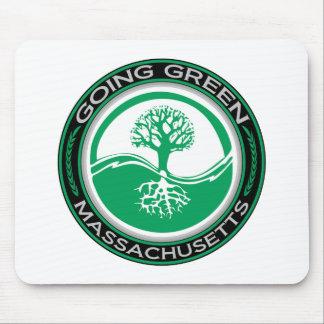 行く緑の木マサチューセッツ マウスパッド