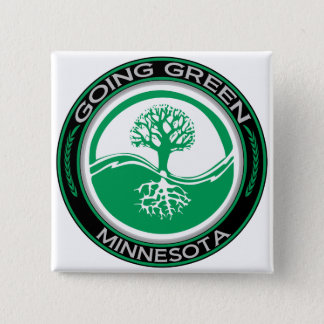 行く緑の木ミネソタ 5.1CM 正方形バッジ