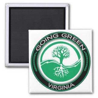行く緑の木ヴァージニア マグネット