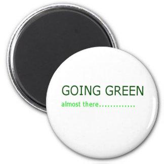行く緑 マグネット