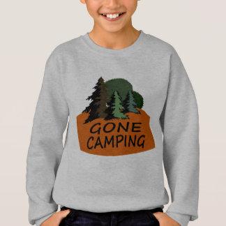 行ったキャンプのご機嫌な人のロゴ スウェットシャツ