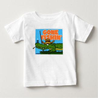 行ったFishinの幼児のティー ベビーTシャツ