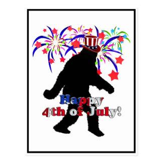 行ったSquatchinのための7月第4 (文字及び花火) ポストカード