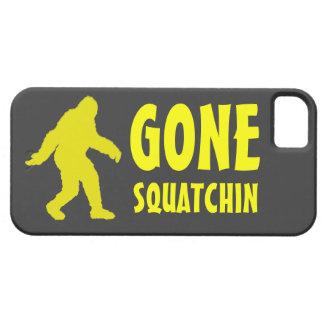 行ったsquatchinの黄色の灰色のビッグフットのiphone 5の箱 iPhone SE/5/5s ケース