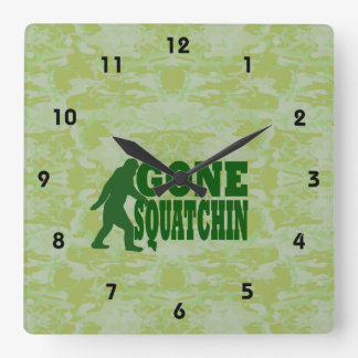 行ったSquatchin スクエア壁時計