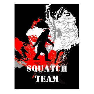 行ったSquatchin、黒いビッグフット ポストカード