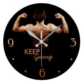 行を-感動的な体育館の柱時計保って下さい ラージ壁時計