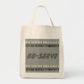 行サーブの買い物袋 トートバッグ