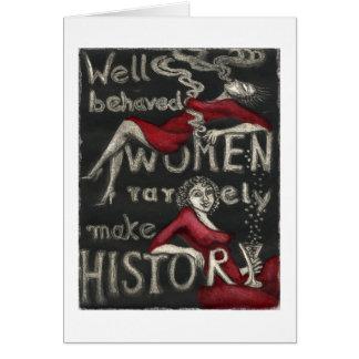 行儀が良い女性はまれに歴史を作りません カード