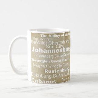 行先のコレクション: 南アフリカ共和国 コーヒーマグカップ