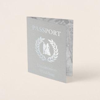 行先の結婚式のパスポート 箔カード