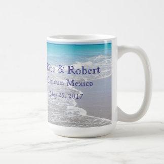 行先の結婚式のマグ コーヒーマグカップ
