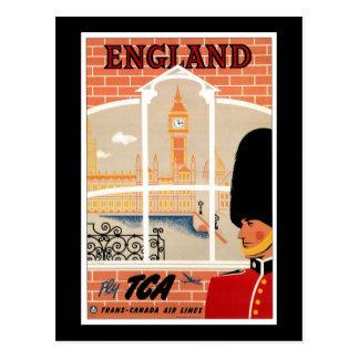 行先: イギリス旅行ポスター 葉書き