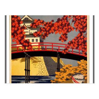 行先: 日本旅行ポスター ポストカード