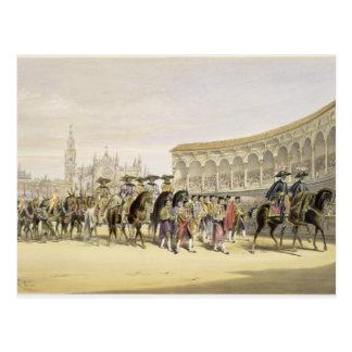 行列1865年の闘牛士の記入項目(色l ポストカード