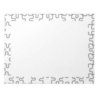 行方不明のパズルの部分パターン ノートパッド