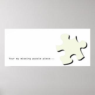 行方不明のパズルの部分ポスター ポスター