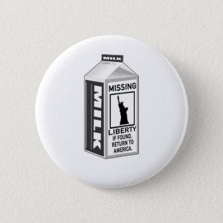 行方不明の自由のミルクのカートン 缶バッジ