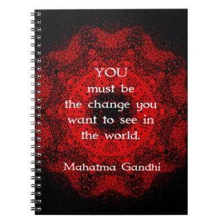 行為について言うMahatma Gandhiの知恵 ノートブック