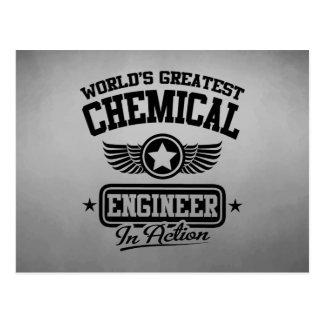 行為の世界ですばらしい化学エンジニア ポストカード