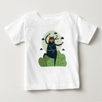 行為の忍者くま ベビーTシャツ