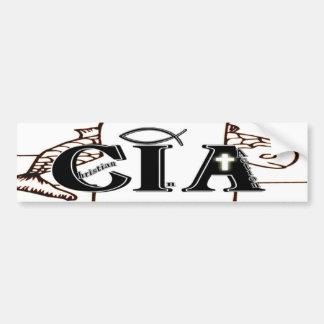 行為の略称のCIAのクリスチャン バンパーステッカー
