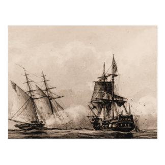 行為の米国の船のスクーナー船企業 ポストカード