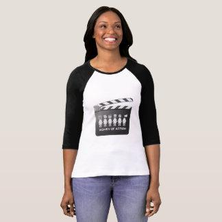 行為の野球Tの女性 Tシャツ