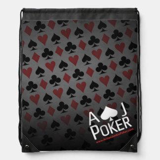 行為の麻薬常習者のトランプのポーカーの最も人気があるなバックパック ナップサック