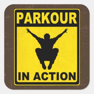 行為のSignboardのParkour スクエアシール