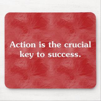 行為は成功2へ鍵です マウスパッド