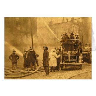 行為-ヴィンテージの消防隊員 カード