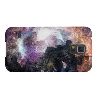 行進するPsychеdеlic軍の兵士 Galaxy S5 ケース