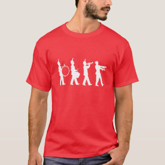 行進のゾンビ(白い) Tシャツ