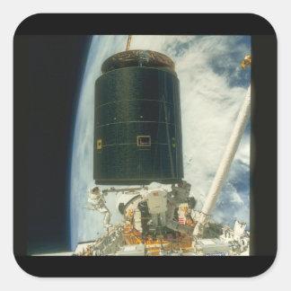衛星。 (衛星; earth_Space スクエアシール
