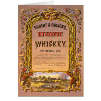 衛生学のウィスキー: 1860年-メッセージカード カード
