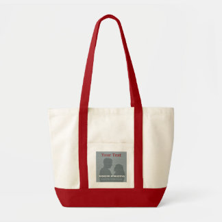衝動の赤いトートあなたの写真及び文字のテンプレート トートバッグ