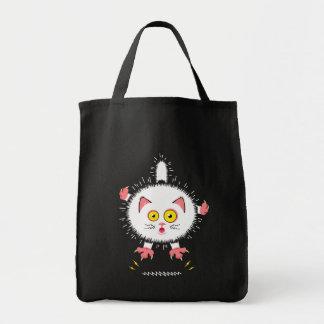 衝撃を与えられたかわいい猫 トートバッグ
