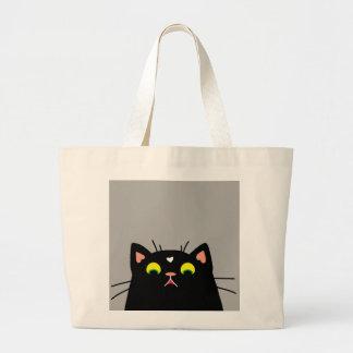 衝撃を与えられた子猫 ラージトートバッグ