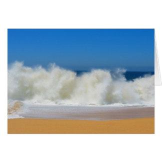 衝突の海洋波のメッセージカード カード