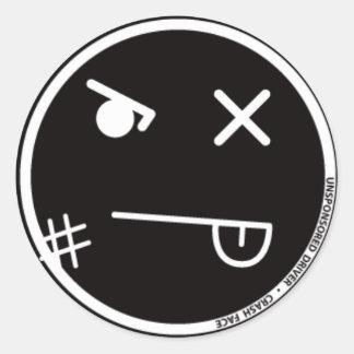 衝突の顔#1のステッカー ラウンドシール