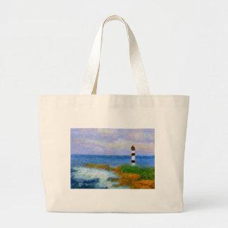 衝突は灯台によって、袋に入れます振ります ラージトートバッグ