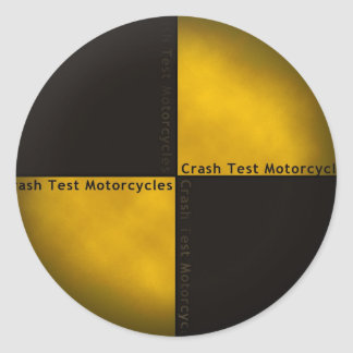 衝突テストオートバイ 丸型シール