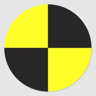 衝突テストダミーの記号の印の交通事故 ラウンドシール